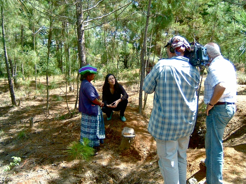 Filming with Marielos Monzon, Guatemala