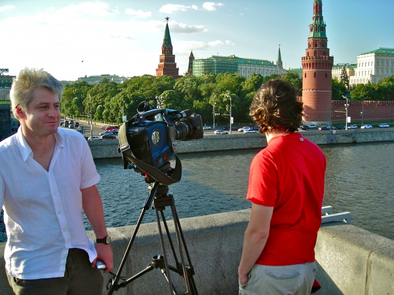 Filming in Moscow